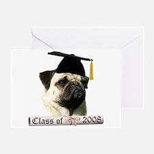 Pug Grad 08 Greeting Card