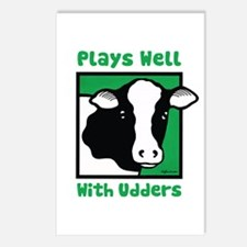 Plays Well With Udders Postcards (Package of 8)