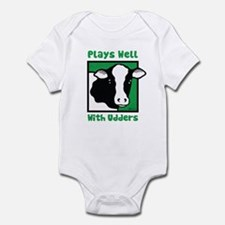 Plays Well With Udders Infant Bodysuit