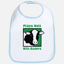 Plays Well With Udders Bib