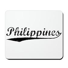 Vintage Philippines (Black) Mousepad