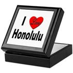 I Love Honolulu Keepsake Box