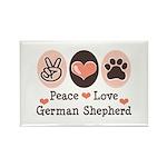 Peace Love German Shepherd Rectangle Magnet (10 pa