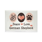 Peace Love German Shepherd Rectangle Magnet (100 p