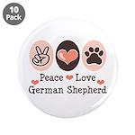 Peace Love German Shepherd 3.5