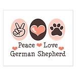 Peace Love German Shepherd Small Poster