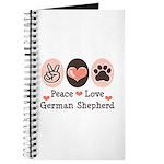 Peace Love German Shepherd Journal