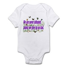 We Are Never Defeated Infant Bodysuit
