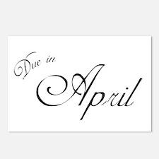 Due In April Formal Script Postcards (Package of 8