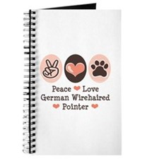 Peace Love G Wirehaired Pointer Journal