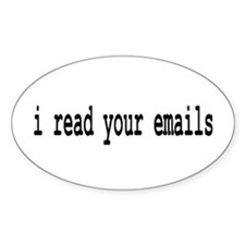 email Oval Decal