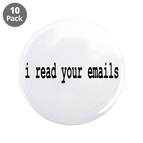 """email 3.5"""" Button (10 pack)"""