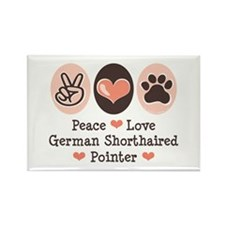 Peace Love G Shorthaired Pointer Rectangle Magnet