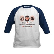 Peace Love G Shorthaired Pointer Tee
