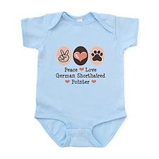 Peace Love G Shorthaired Pointer Infant Bodysuit