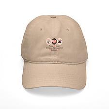 Peace Love G Shorthaired Pointer Baseball Cap