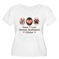 Peace Love G Shorthaired Pointer T-Shirt