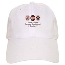 Peace Love G Shorthaired Pointer Baseball Cap