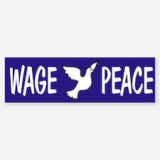 Wage Peace Bumper Car Car Sticker