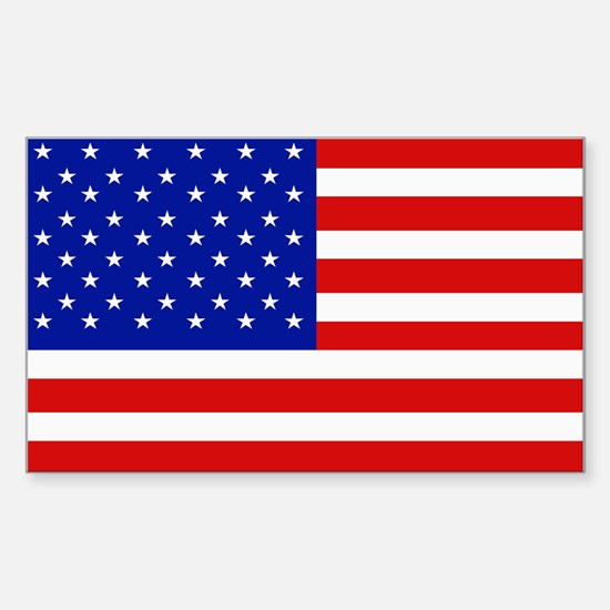 American Flag Bumper Rectangle Decal