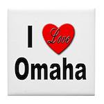 I Love Omaha Tile Coaster