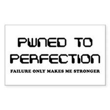 Pwned to Perfection Rectangle Decal