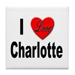 I Love Charlotte Tile Coaster