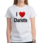 I Love Charlotte (Front) Women's T-Shirt