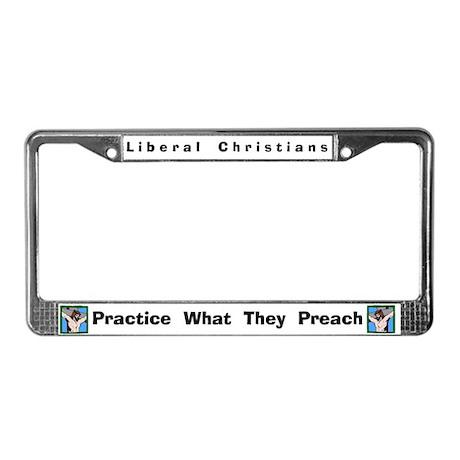Liberal Christians #4 License Frame