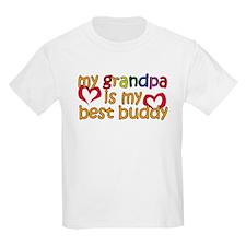 Grandpa is My Best Buddy T-Shirt