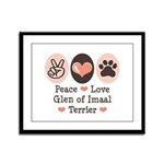 Peace Love Imaal Terrier Framed Panel Print