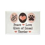 Peace Love Imaal Terrier Rectangle Magnet (100 pac