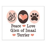 Peace Love Imaal Terrier Small Poster