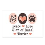 Peace Love Imaal Terrier Postcards (Package of 8)