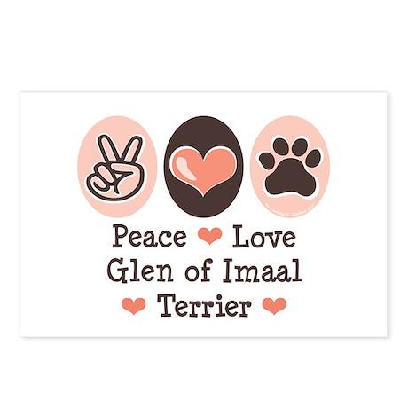 Peace Love Imaal Terrier Postcards (Package of 8)