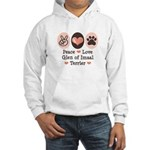 Peace Love Imaal Terrier Hooded Sweatshirt