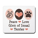 Peace Love Imaal Terrier Mousepad