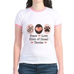 Peace Love Imaal Terrier Jr. Ringer T-Shirt