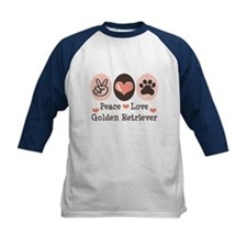 Peace Love Golden Retriever Tee