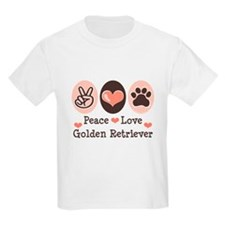 Peace Love Golden Retriever T-Shirt