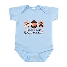 Peace Love Golden Retriever Infant Bodysuit