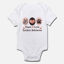 Peace Love Golden Retriever Infant Bodysuit