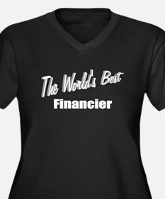 """The World's Best Financier"" Women's Plus Size V-N"