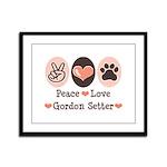Peace Love Gordon Setter Framed Panel Print