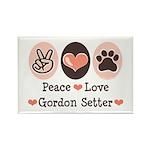 Peace Love Gordon Setter Rectangle Magnet (10 pack