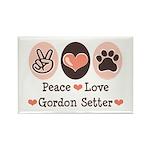 Peace Love Gordon Setter Rectangle Magnet (100 pac