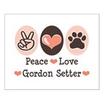 Peace Love Gordon Setter Small Poster