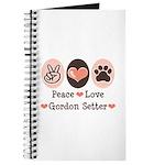 Peace Love Gordon Setter Journal
