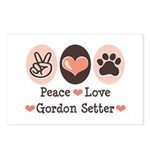 Peace Love Gordon Setter Postcards (Package of 8)