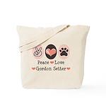 Peace Love Gordon Setter Tote Bag